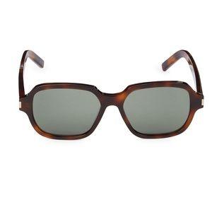 NIB Saint Laurent 53mm Square Sunglasses